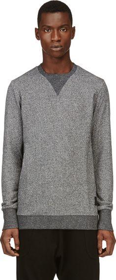 Silent by Damir Doma: Grey Marled Sweatshirt | SSENSE