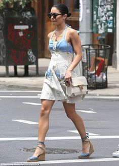Vanessa Hudgens channels the women of HBO's Girls in NYC West Village #dailymail