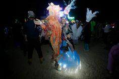 Expressions of light - Tankwa, South Africa. AfrikaBurn courtesy of EPA Photos/Kim Ludbrooke