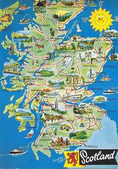 Map of Scotland Scotland Map, England And Scotland, Scotland Travel, Ireland Travel, Scotland History, Scotland Tourist Attractions, Tourist Map, Scotland Vacation, Scotland Road Trip
