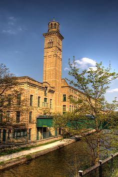 Saltaire is a Victorian model village in West Yorkshire, England, by the  River Aire