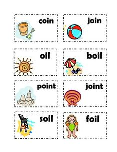 vowel sound cards oi and oy