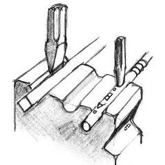 Support for rounds and squares on edge :   When starting a chisel cut on the corner of a bar a swage block is very handy. The same applies for incising, stamping or splitting rounds that tend to roll away otherwise.   Hex grooves will also support rounds quite well for this purpose and tend to lock them in place if a proper fit.