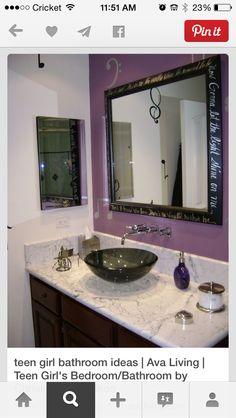Teenage Bathroom   Bathroom Creations by Nance   Pinterest ... on living room for teens, bathroom designs for seniors, bathroom designs for girls, color for teens, decoration for teens, showers for teens, art for teens, home office desk for teens, bathroom designs for toddlers, cabinets for teens, bathroom designs lighting, baths for teens, bathroom designs for a man, bathroom designs small, bathroom his and her designs, room design for teens, photography for teens, bathroom designs for the elderly, bathroom designs for men, interior design for teens,