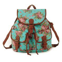 ZIWI Brand Preppy Style Hotsale Canvas Material Floral School Backpack Mochila Women Bag Top Quality QQ1715