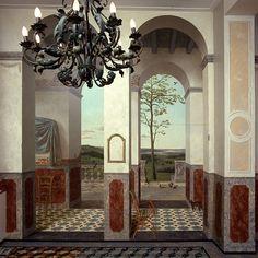 """Kenne Gregoire.   Realisering schildering vergaderzaal Woningbouwvereniging """"het Oosten"""" Amsterdam."""