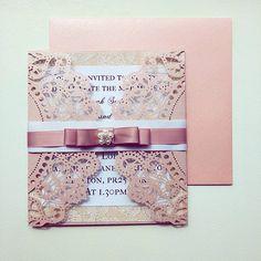Sleeping Beauty wedding invitation
