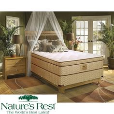 @Overstock - This Nature's Rest Stratton mattress is constructed with natural latex foam rubber to provide ultra pressure relieving comfort and support. This mattress offers a patented 3-inch body curve topper and a 7-inch high-density plant-based support foam core.  http://www.overstock.com/Home-Garden/Natures-Rest-by-Spring-Air-Stratton-Euro-Top-Zoned-Latex-Top-Queen-size-Mattress-Set/5412262/product.html?CID=214117 $1,537.99
