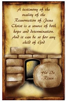Didi @ Relief Society: He Is Risen - First Presidency April 2013 Message, handout