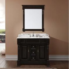 @Overstock - This Aberdeen bathroom vanity set features maximum storage with two doors and three drawers. The vanity is constructed from solid oak wood and comes complete with the mirror.http://www.overstock.com/Home-Garden/Aberdeen-40-inch-Single-sink-Bathroom-Vanity-Set/6460865/product.html?CID=214117 $1,180.99