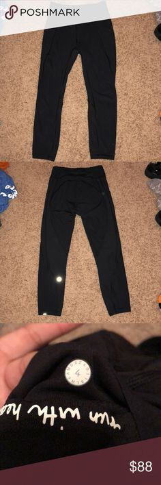 3953b2ab6978c NEW Lululemon leggings time to sweat crop *23 Brand new!:) message with