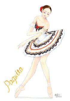 Ballerina Costume, Ballerina Art, Ballet Art, Ballet Costumes, Ballet Dance, Ballet Illustration, Manga, Christmas Colors, Dance Wear