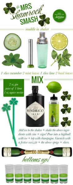 This is for all the ladies out there! Celebrate St. Patrick's Day by sipping on The Mrs. Shamrock Smash #recipe #drink