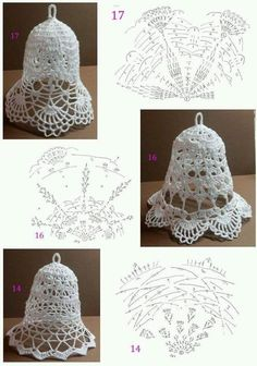 Free Christmas Crochet Patterns for Beginners ~ Search for Most Techniques About Incredible 41 Images Free Christmas Crochet Patterns for Beginners for Distinctive Easy Crochet Dish Cloth Pattern On Free Christmas Crochet Patterns for Beginners Crochet Christmas Decorations, Crochet Christmas Ornaments, Christmas Crochet Patterns, Christmas Bells, Christmas Crafts, Crochet Snowflake Pattern, Crochet Flower Tutorial, Crochet Snowflakes, Crochet Flowers