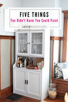 Want to makeover that old laminate cabinet or something else at home? Here are five things you didn't know you could paint. Click to see them all.