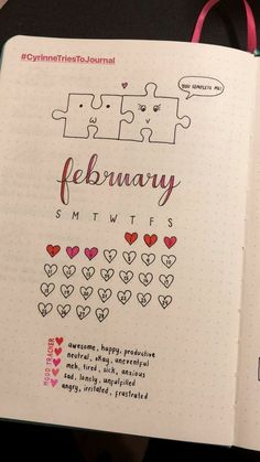 bujo february February Bullet Journal Cover Page Ideas {It's not all hearts and flowers!} Last modified on March 2019 > > > February Bullet Journal Cover Page Ideas {It's not all hearts and flowers!}February Bullet Journal C Bullet Journal Weekly Spread, Bullet Journal Spreads, Planner Bullet Journal, Bullet Journal Mood Tracker Ideas, February Bullet Journal, Bullet Journal Cover Page, Bullet Journal Tracker, Bullet Journal Notebook, Bullet Journal School
