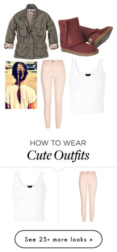 """""""love this outfit, could picture myself wearing it fr sure"""" by kellmam on Polyvore featuring UGG Australia and River Island"""