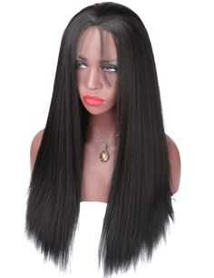 ==> [Free Shipping] Buy Best COLODO Glueless Synthetic Lace Front Wig Light Yaki Straight Hair Wigs For African Americans Black Women Online with LOWEST Price   32803769459