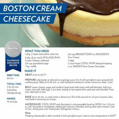 Boston Cream Cheesecake!