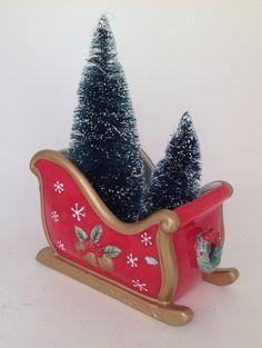 Christmas Sled Vintage 1990 Fitz & Floyd by ShabbyVintageByJan