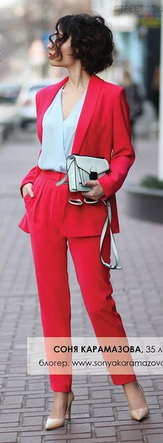 Red And Baby Blue Styling