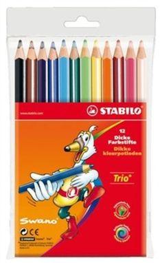 STABILO kleurpotlood Trio dik etui 12