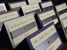 Elegant Wedding Placecards  #
