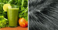 A green smoothie is a mixture of fresh fruits and vegetables, mixed for a breakfast, lunch or snack full of nutrients, but also can be very beneficial for reverse the gray Natural way. Grey Hair Reversal, Reduce Bloating, Fresh Fruits And Vegetables, Healthy Hair, Celery, Watermelon, Your Hair, Lose Weight, Canning