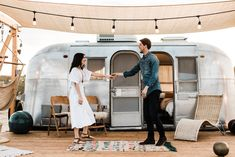 Engagement Photos Outfit Inspiration! Cute Vintage Inspired Maxi Dress from Free People  Natalie & AJ - Joshua Tree Acres Airstream Engagement Session - Clarisse Rae | Photo & Video - Southern California Wedding Photographer - www.clarisserae.com