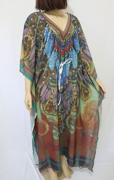 3f33a79044b NOVIDADE! Vestido Kaftan Floral com estampa Digital do M ao XG apenas R 99