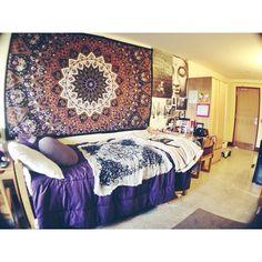 Boho Inspired Dorm Room at William Paterson University