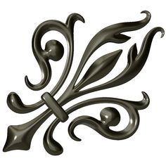 ... fleur de lis obj format ornamental fleur de lis stl model for 3d
