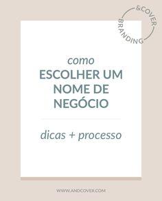 &COVER » COMO ESCOLHER UM NOME DE NEGÓCIO
