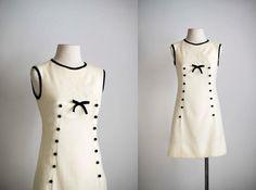 60s dress / 1960s mod shift dress / Lulu mini by VacationVintage, $84.00