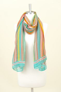 Jamaica Me Crazy Scarf- with with anything back to white