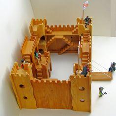 handmade wooden regal castle χειροποίητο ξύλινο by woodnack