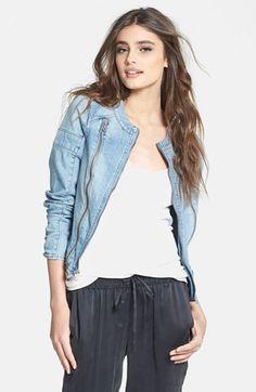 Paige Denim 'Fairfax' Denim Moto Jacket @Nordstrom