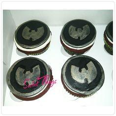 Wu-Tang cupcakes   sweetthingsbywendy.ca Cupcake Toppers, Cupcake Cakes, Cupcakes, Wu Tang, Sweet, Candy, Cupcake, Brioche, Brioche