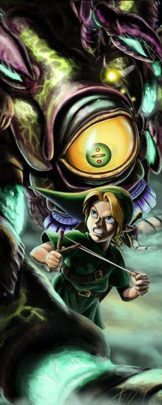 The Legend of Zelda: Ocarina of Time - Link vs Queen Gohma