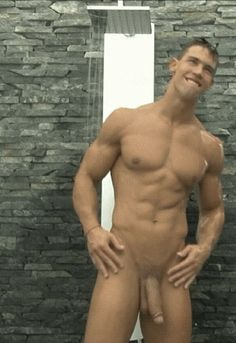 Cute Guy Stripping Taking Shower