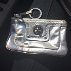 Marc by Marc Jacob silver keychain holder Great shape silver Marc by Marc Jacob key chain holder. Great size and durability. Marc by Marc Jacobs Accessories Key & Card Holders
