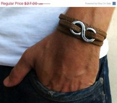 ONSALE 20% OFF Men's Bracelet Men's Infinity by Galismens on Etsy