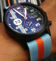 Chronograph Modern PVD  Le Mans edition on Gulf Team NATO
