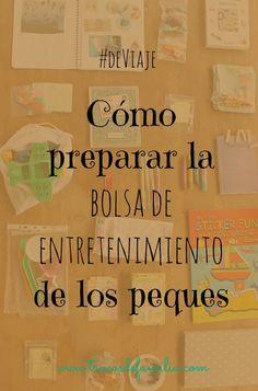 Cómo preparar la bolsa de entretenimiento de viaje de los peques Personal Care, Montessori, Bag, Travel Purse, Toddler Travel, Entertainment, Hacks, Exit Slips