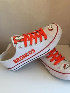 Denver Broncos tennis shoes by sportshoequeen on Etsy Denver Broncos Memes 71b444b79