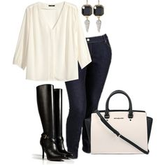 Plus Size Outfit, created by m-rose on Polyvore