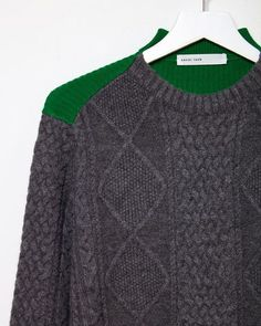 Shop Sacai on La Garconne, an online fashion retailer specializing in the elegantly understated. Mens Fashion Sweaters, Knitwear Fashion, Knit Fashion, Sweater Fashion, Men's Fashion, Sweater Shop, Cable Knit Sweaters, Men Sweater, Winter Sweaters