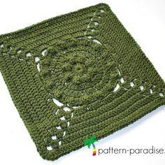 Free Crochet Pattern: Casablanca Crochet Square | Pattern Paradise Free Crochet Square, Crochet Squares Afghan, Crochet Square Patterns, Crochet Blanket Patterns, Crochet Blankets, Granny Squares, Crochet Stitches, Crochet Granny, Crochet Ideas