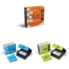 UK Practical Games - The Creativity Hub Rory's Story Cubes Bundle - Pack of 3. It is an Amazon affiliate link.