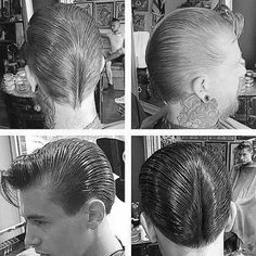 Ducktail Haircut For Men - 30 Ducks Arse Hairstyles 1950s Mens Hairstyles, Slick Hairstyles, Classic Hairstyles, Vintage Hairstyles, Barber Haircuts, Haircuts For Men, Ducktail Haircut, Brylcreem Hairstyles, Greaser Hair